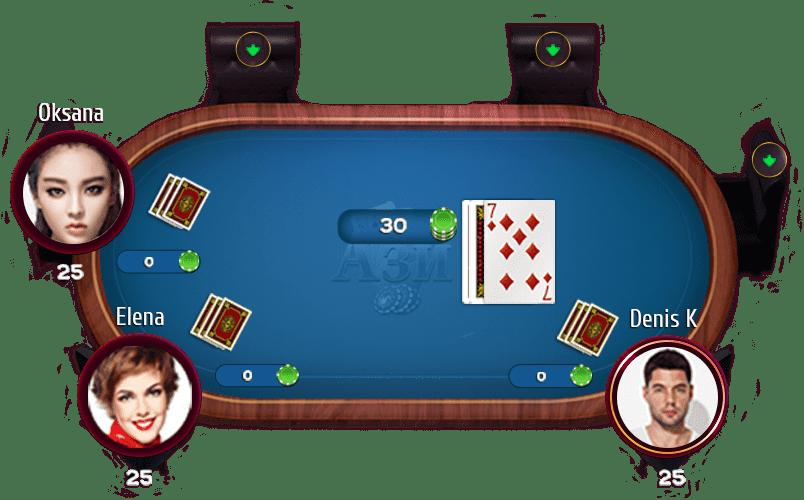 играть карточная игра ази